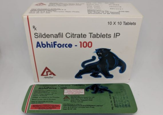 Buy Abhiforce 100mg Tablets - Sildenafil Citrate - Generic Viagra